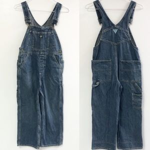 Osh kosh boys 8 overalls bib blue jean farmer pant